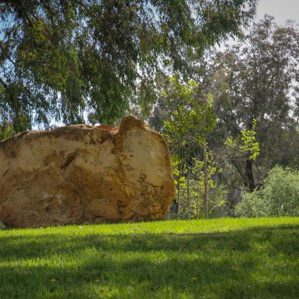 View of big rock