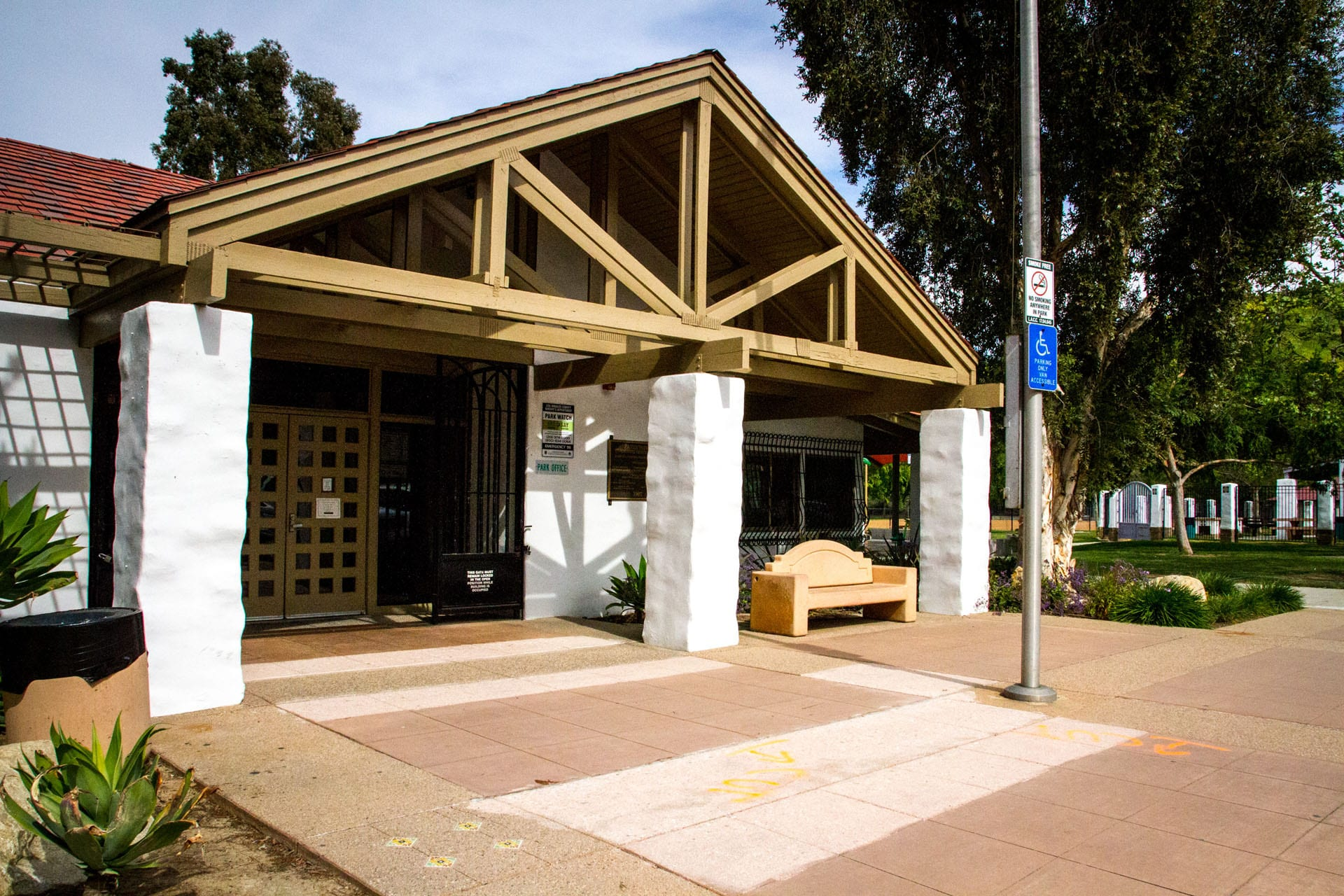 Entrance way to park office