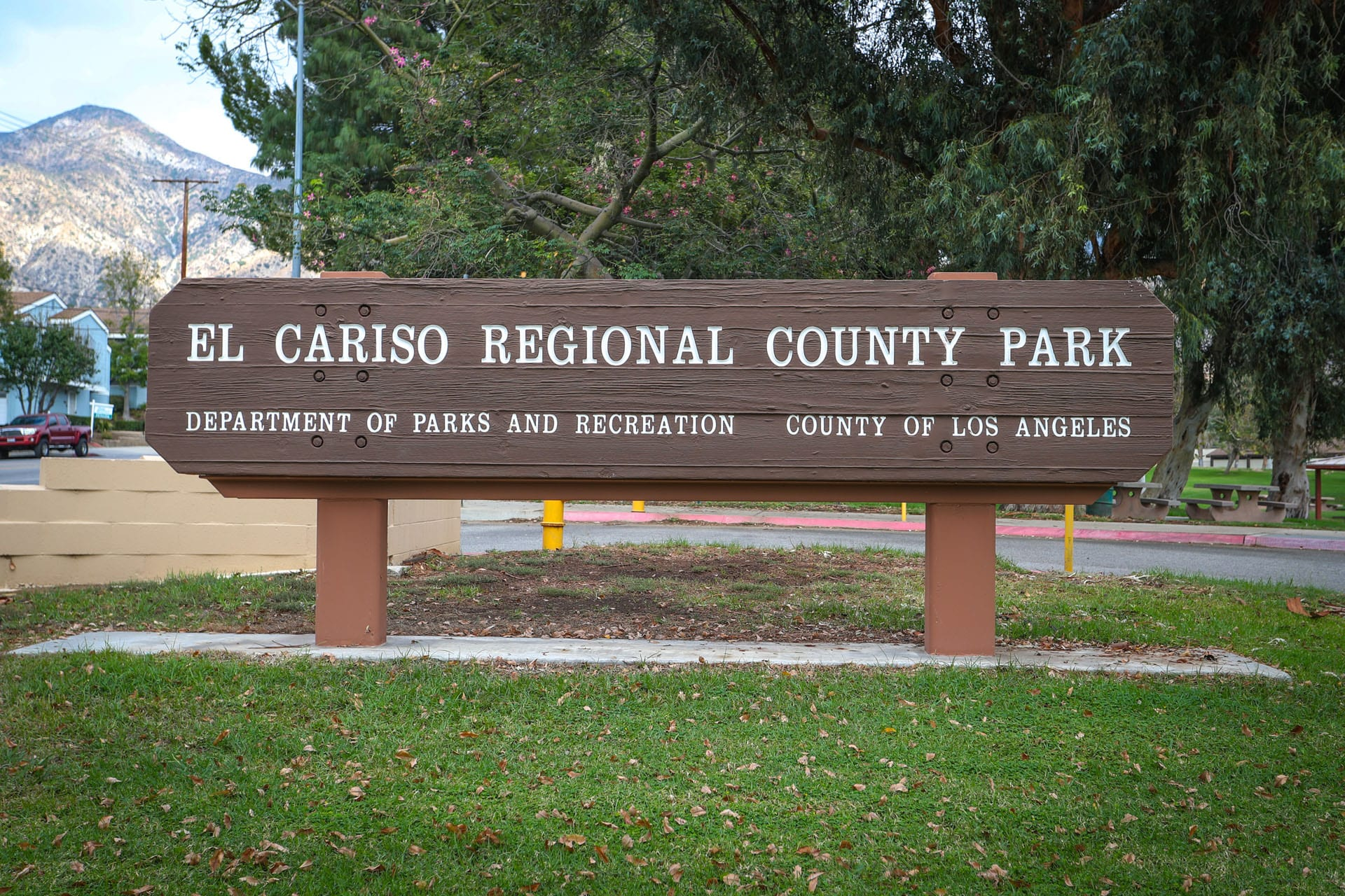 El Cariso Regional County Park sign