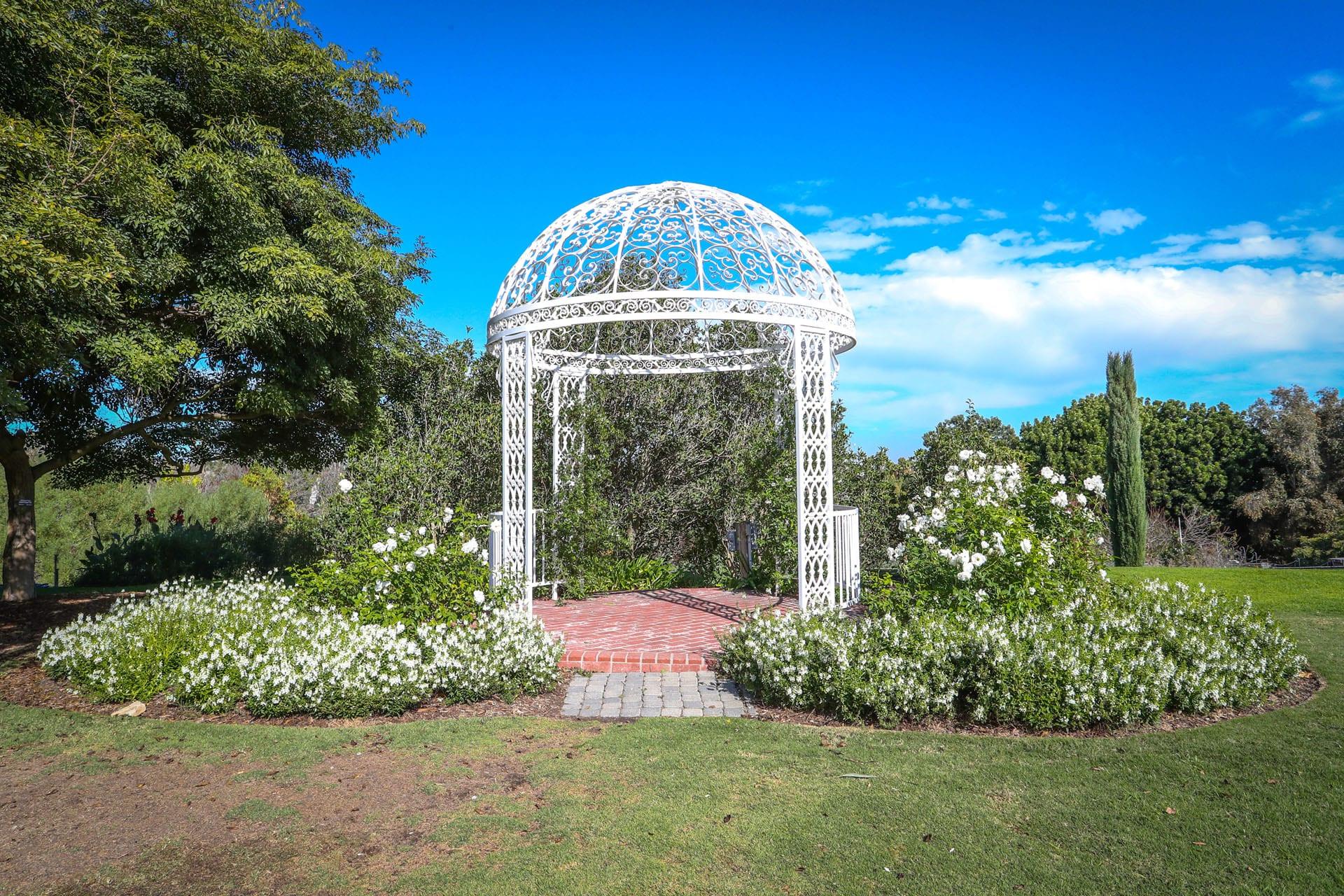 Gazebo in a garden area
