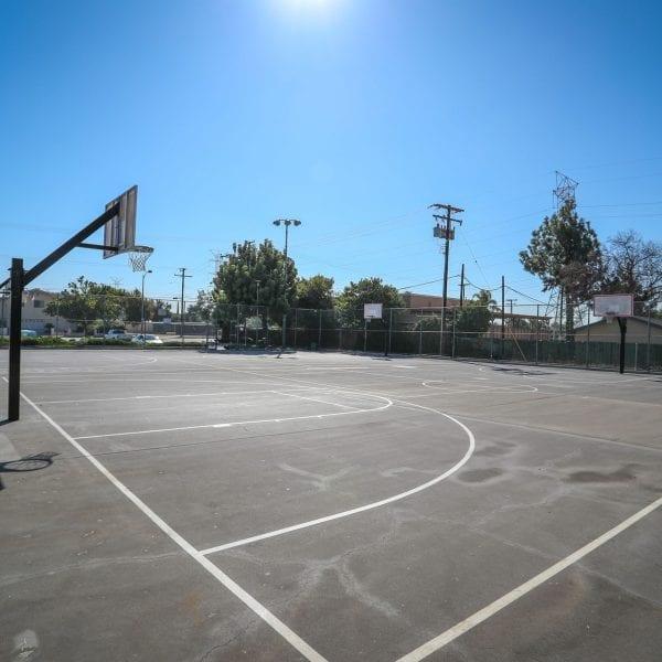 Dual basketball court
