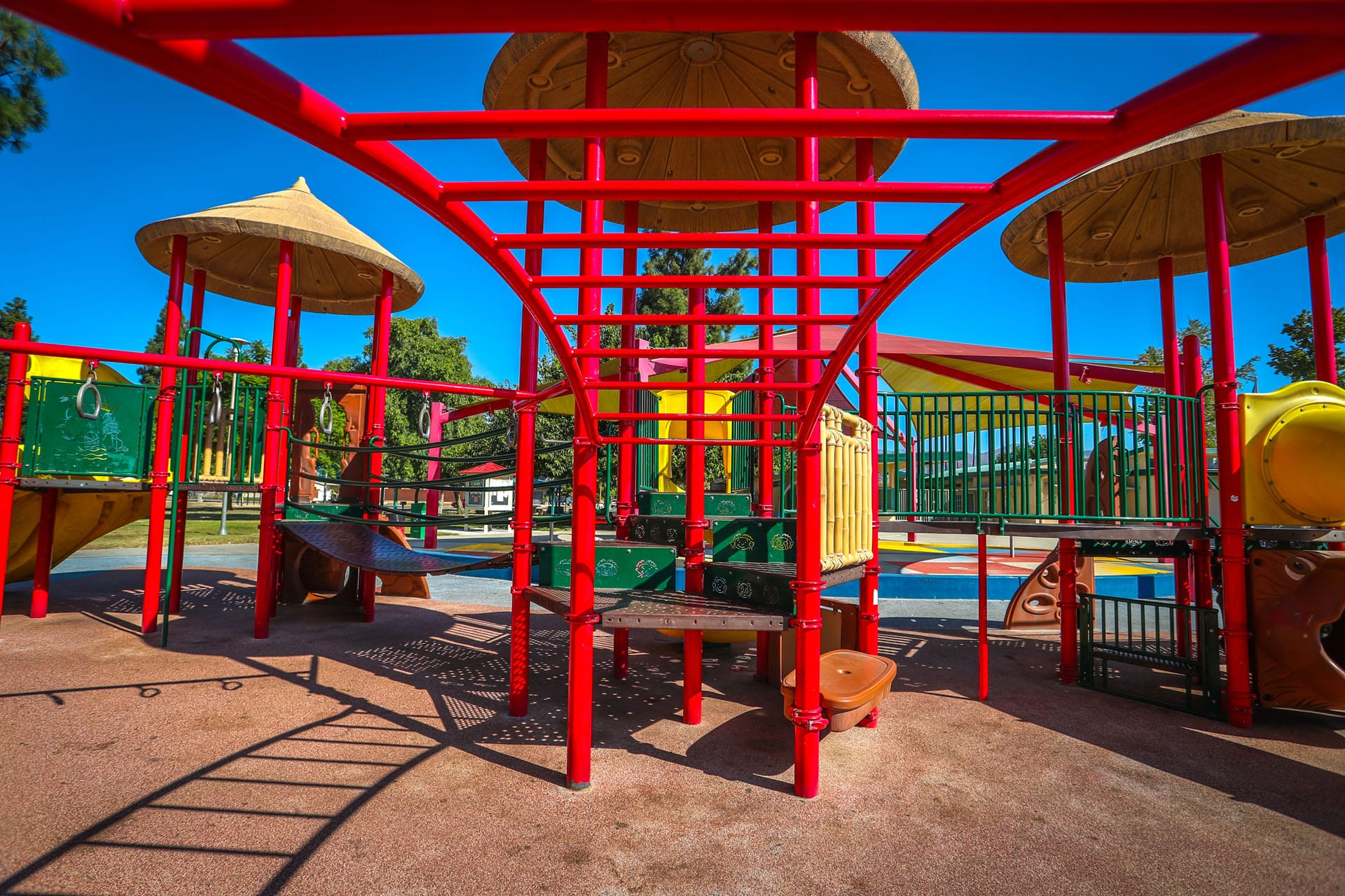 Monkey bars in a playground