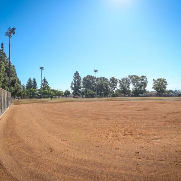 Baseball field dirt area