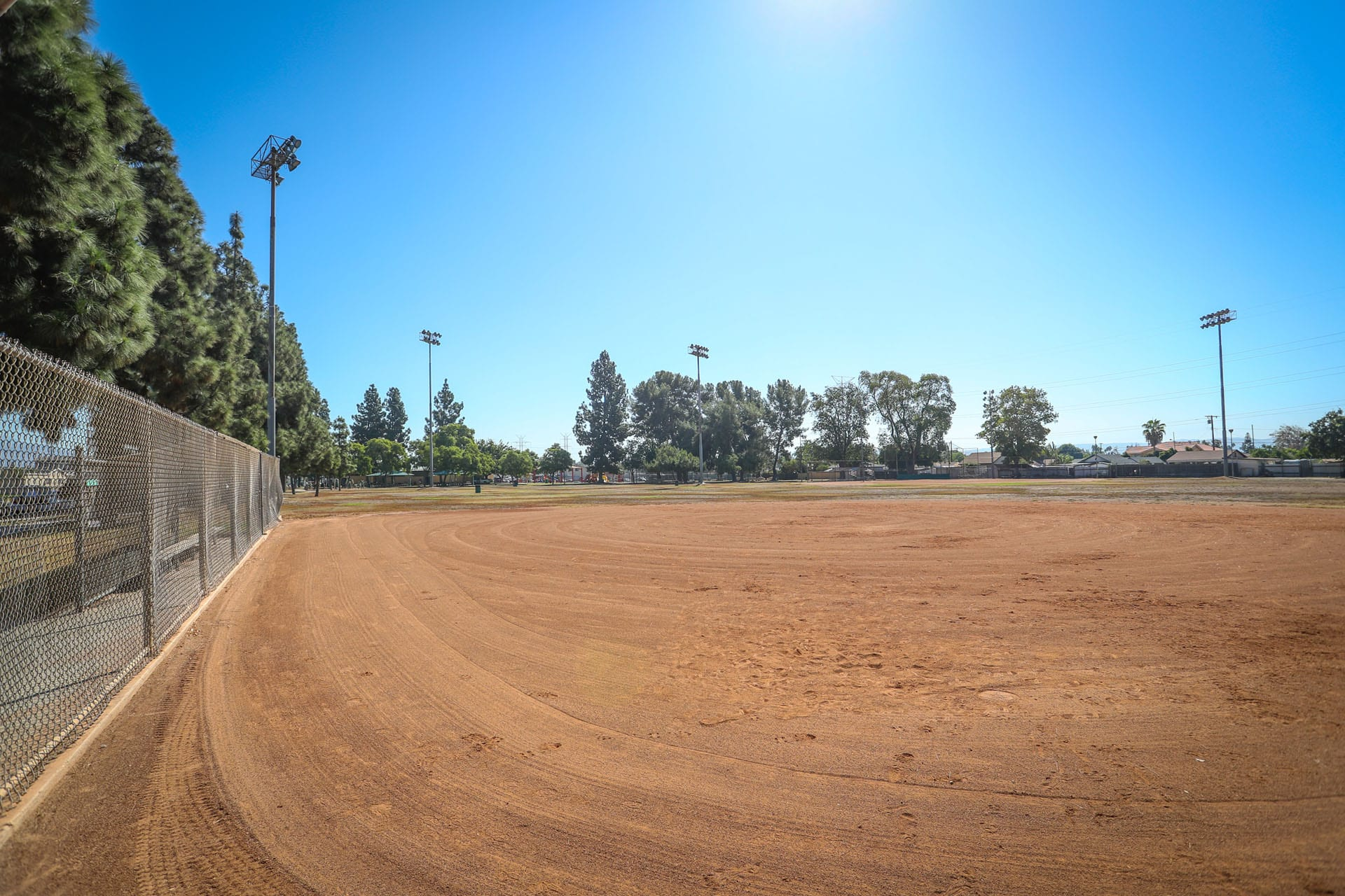 Baseball field dirt area