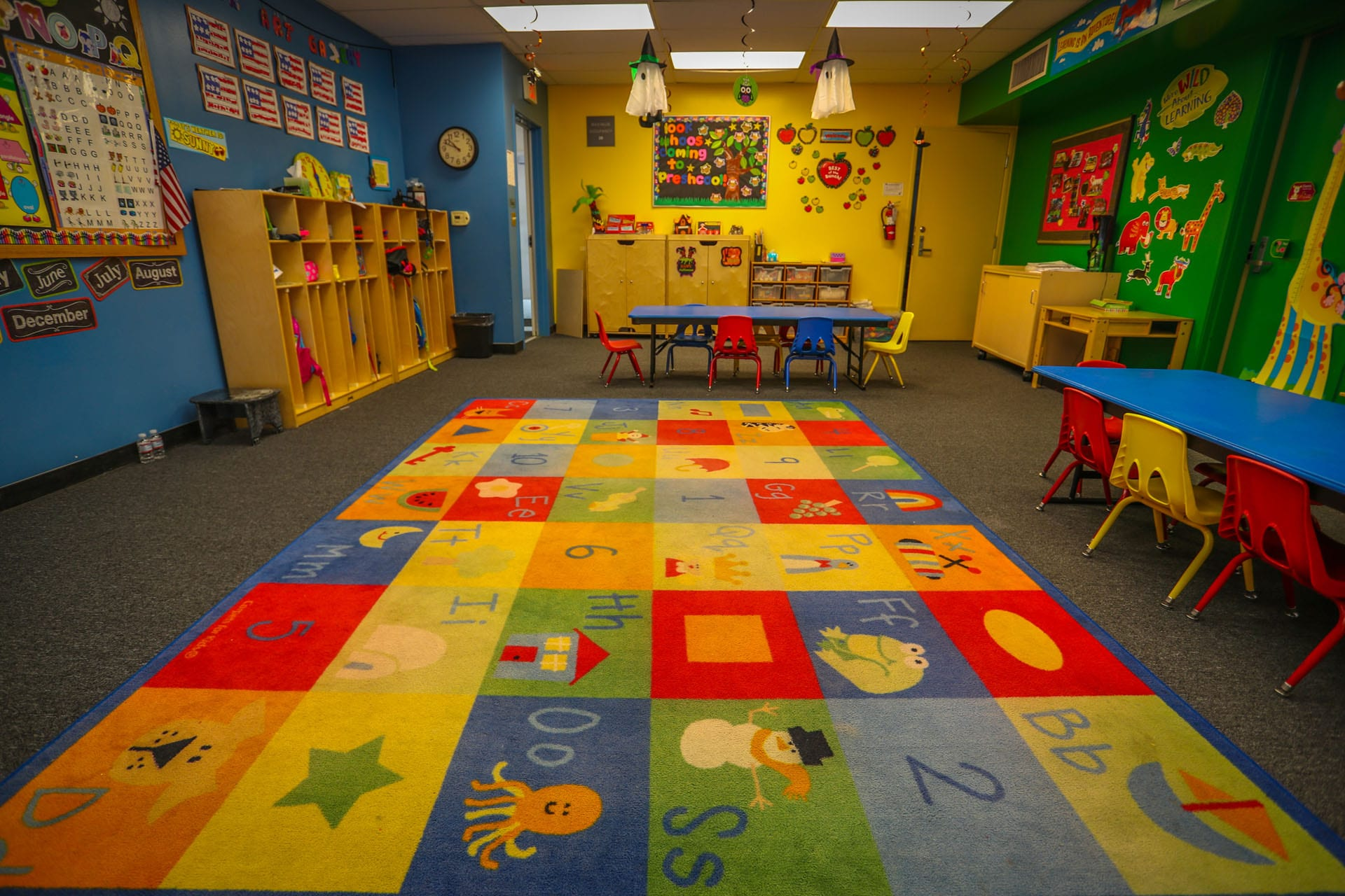 Colorful childrens classroom