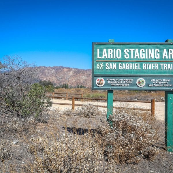 Lario Staging Area sign