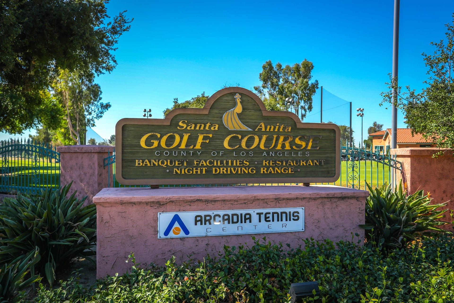 Santa Anita Golf Course sign