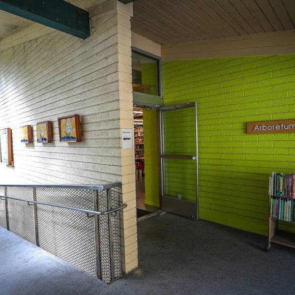 Arboretum and Botanic Garden library entrance