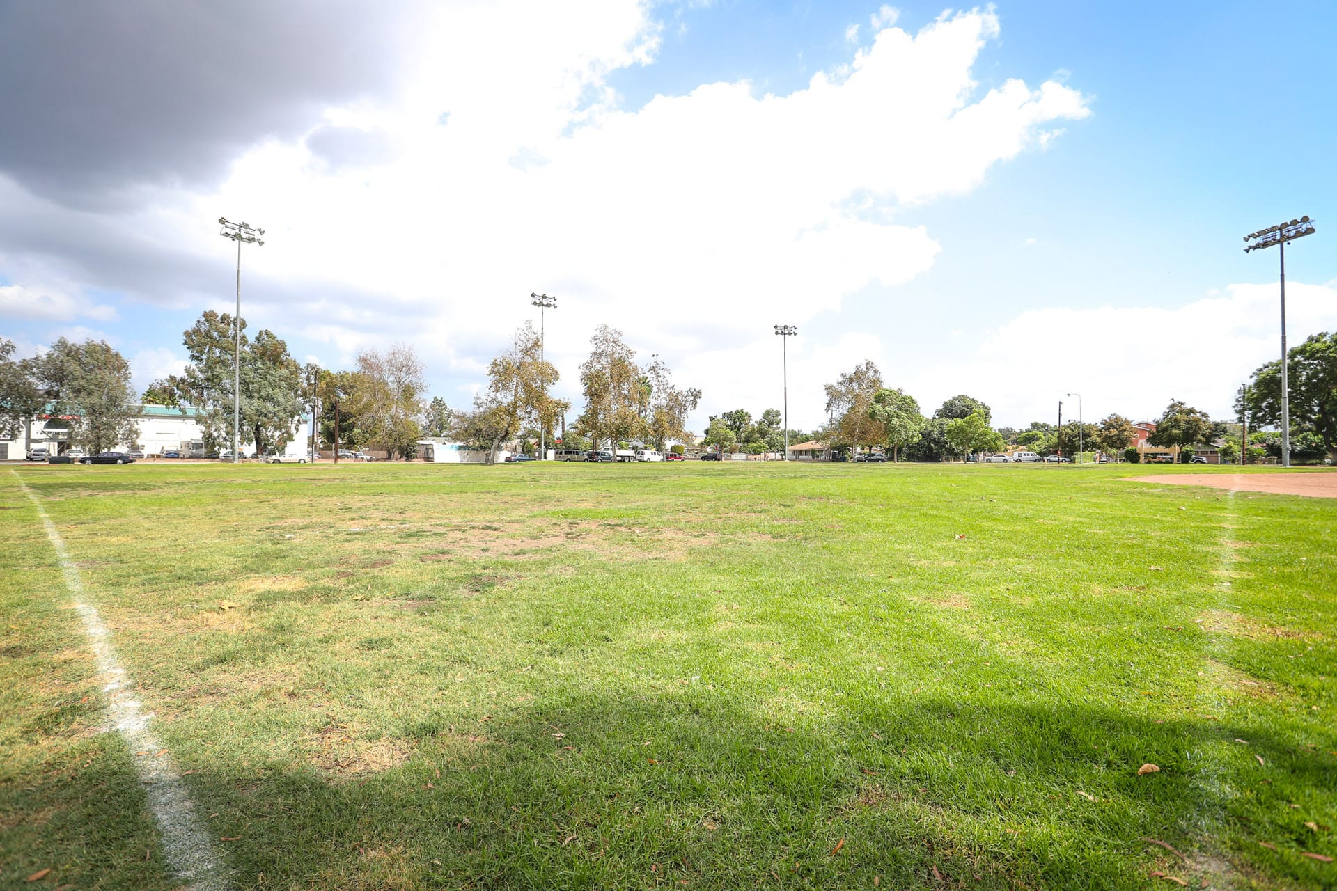 View of part of a baseball field