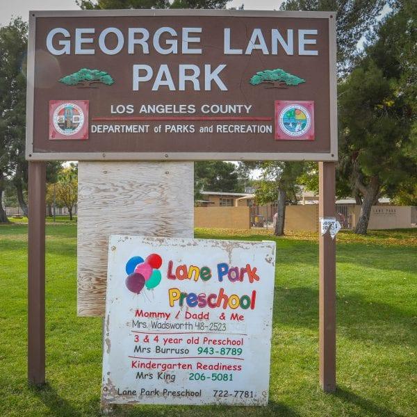 george lane park sign