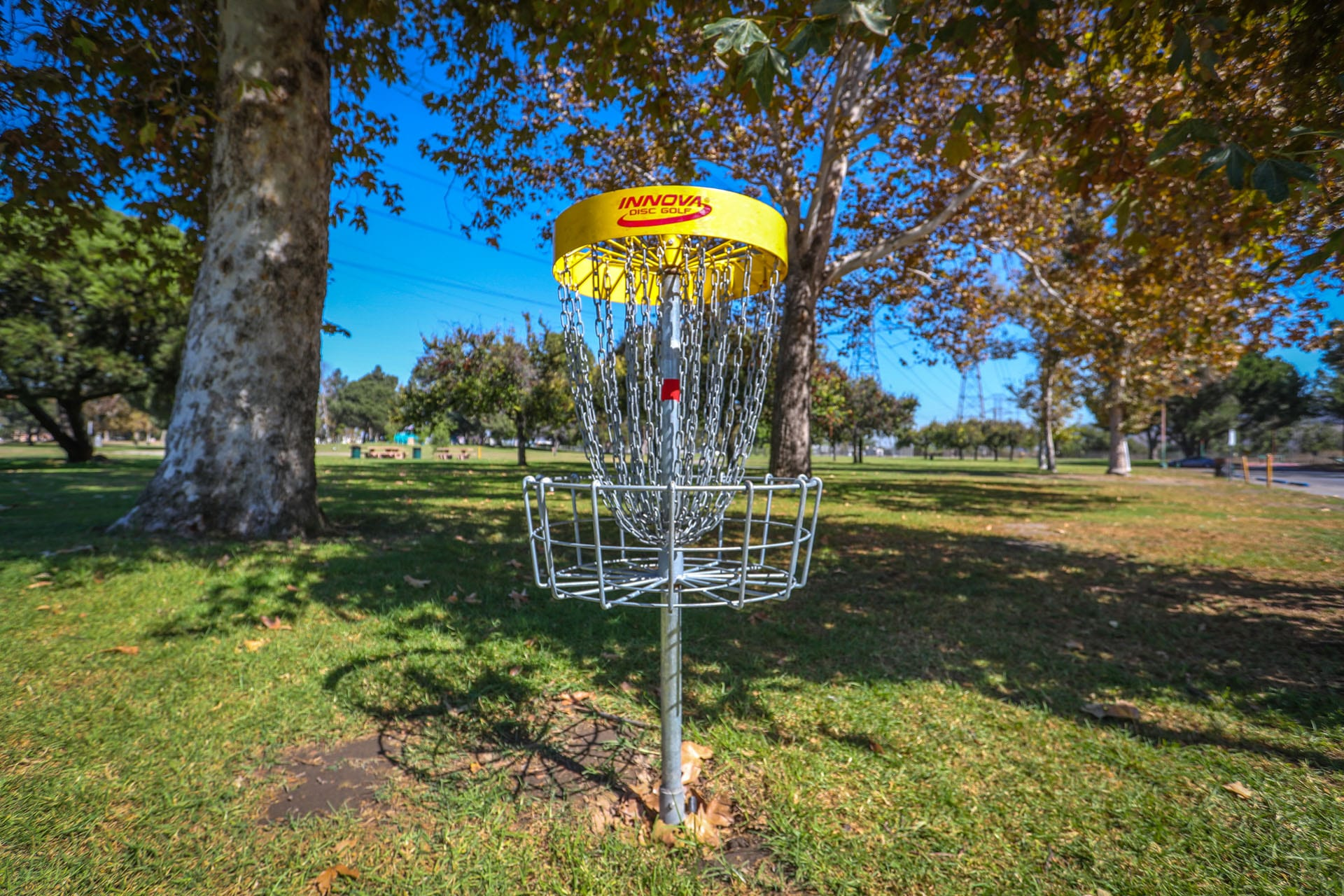Disc golf target and basket