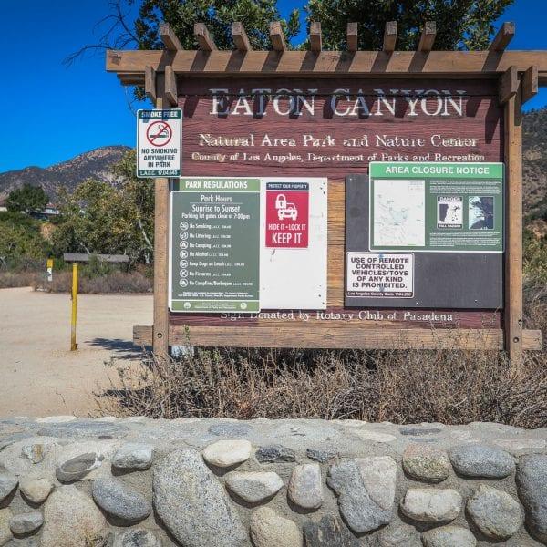 Eaton Canyon informational board
