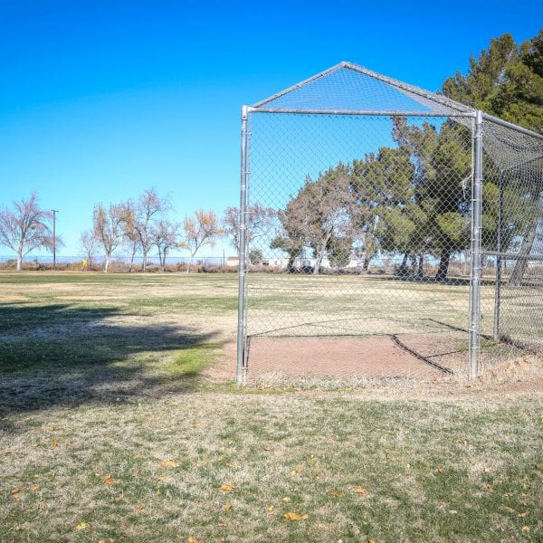 Net on baseball field