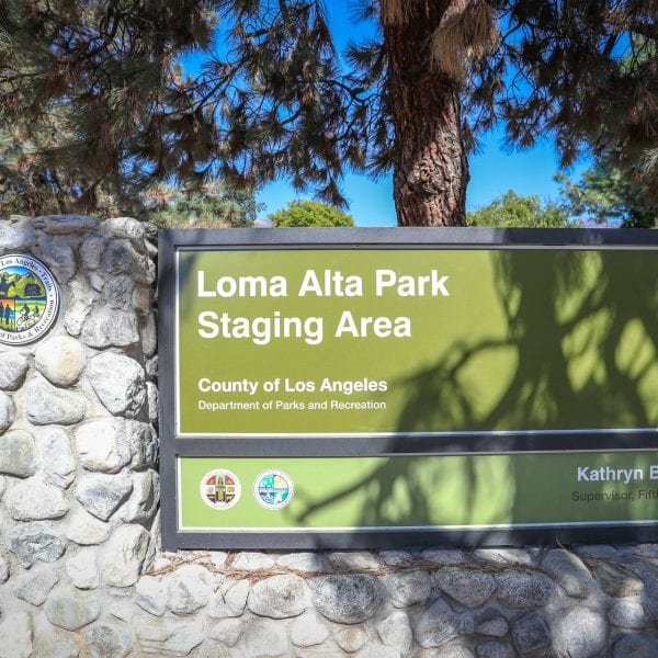 Loma Alta Staging Area sign