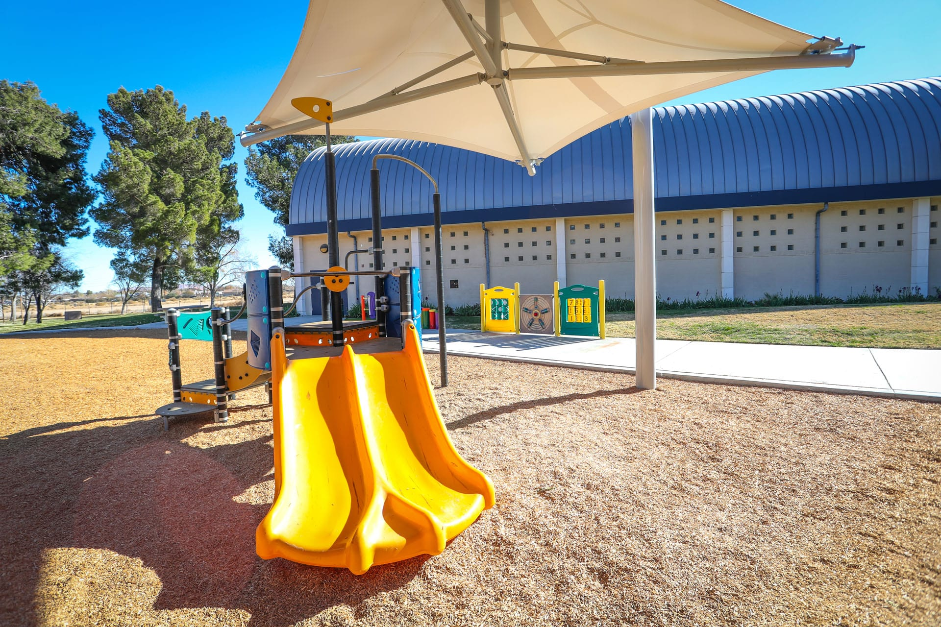 Playground and building