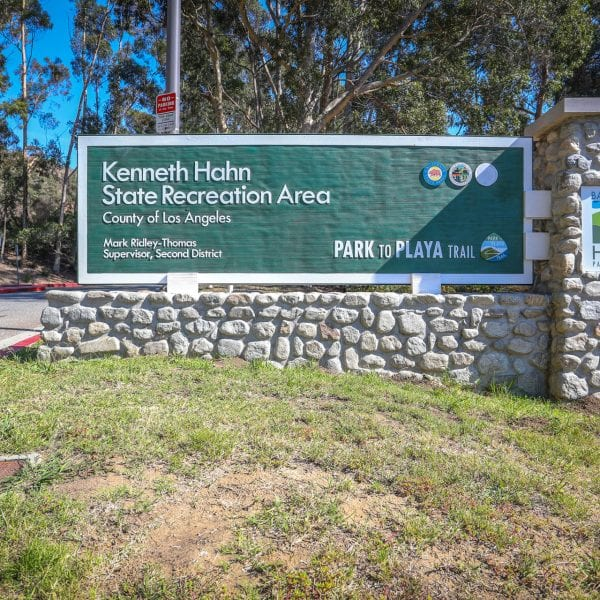 Kenneth Hahn State Recreation Area sign
