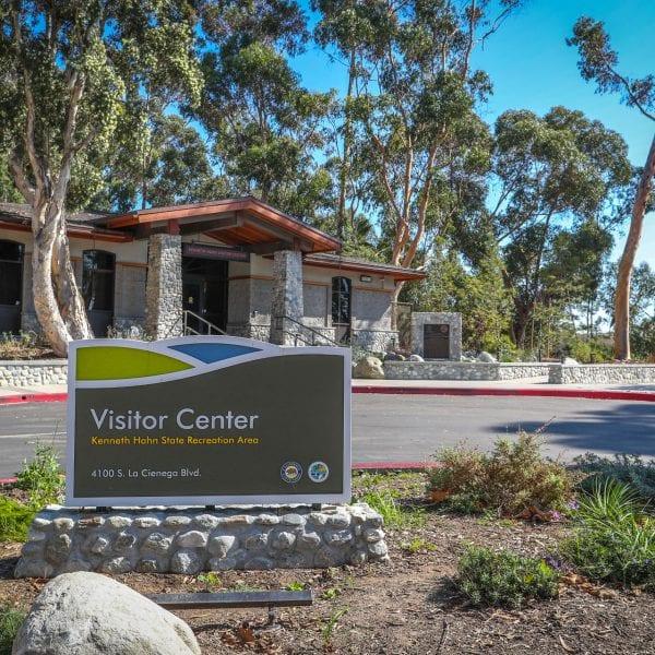 Hahn Recreation Area sign