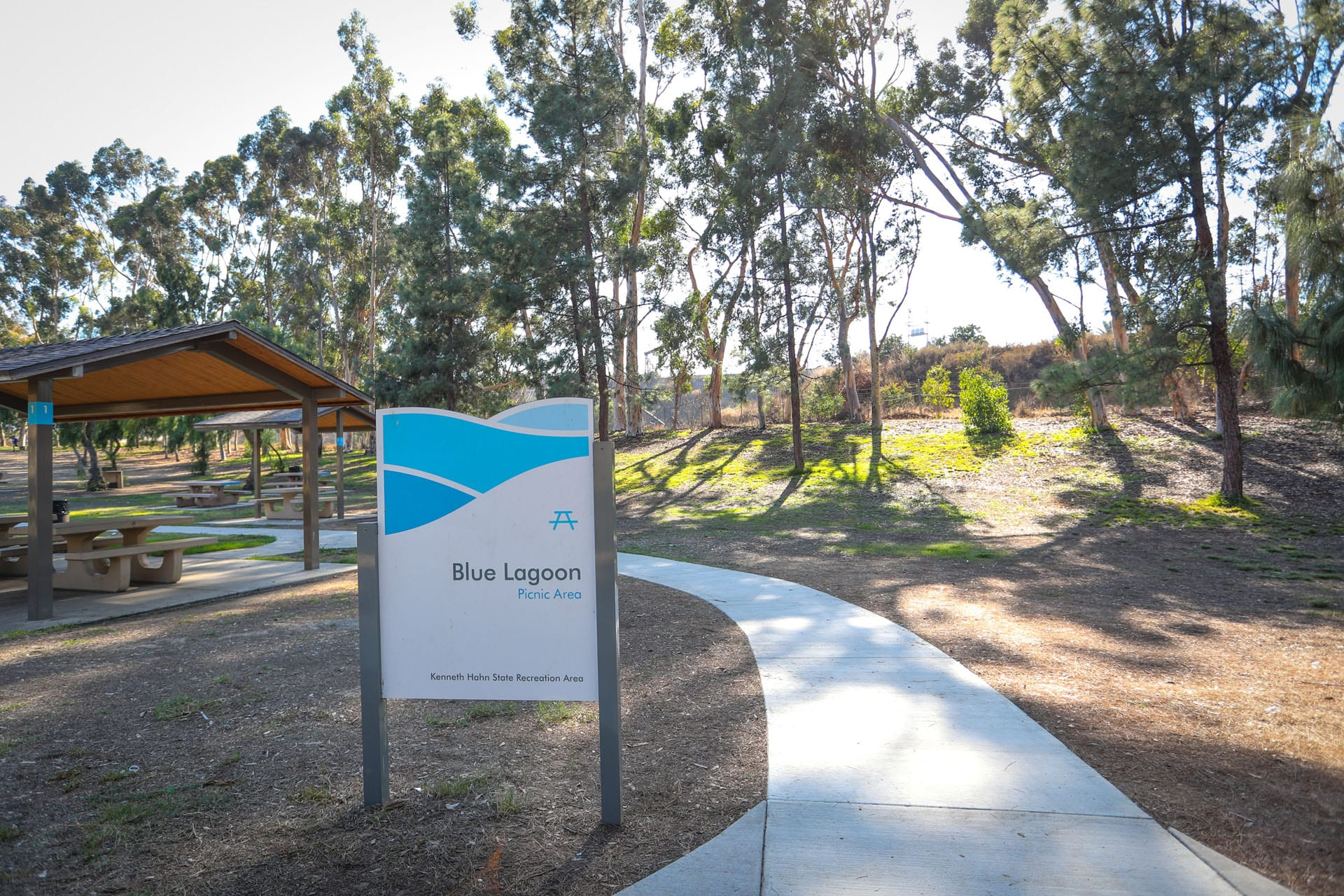 Blue Lagoon Picnic Area sign