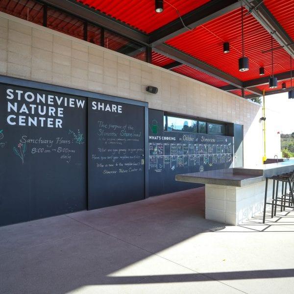 Stoneview Nature Center bar/café