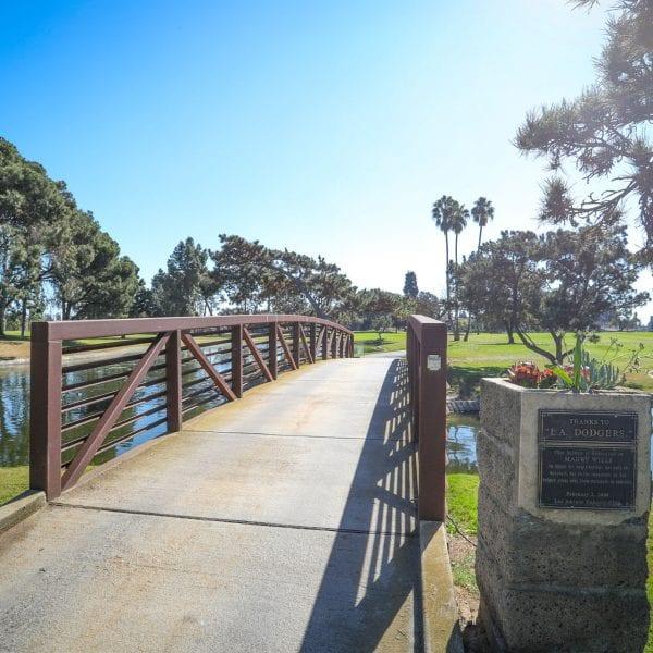 Bridge to a golf course