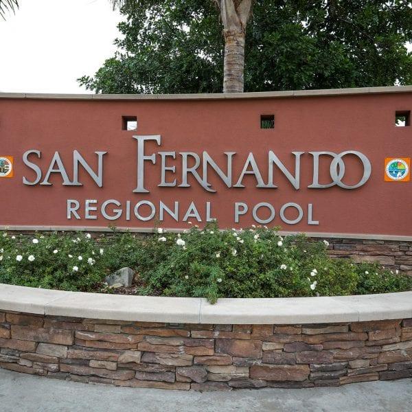San Fernando Regional Pool sign