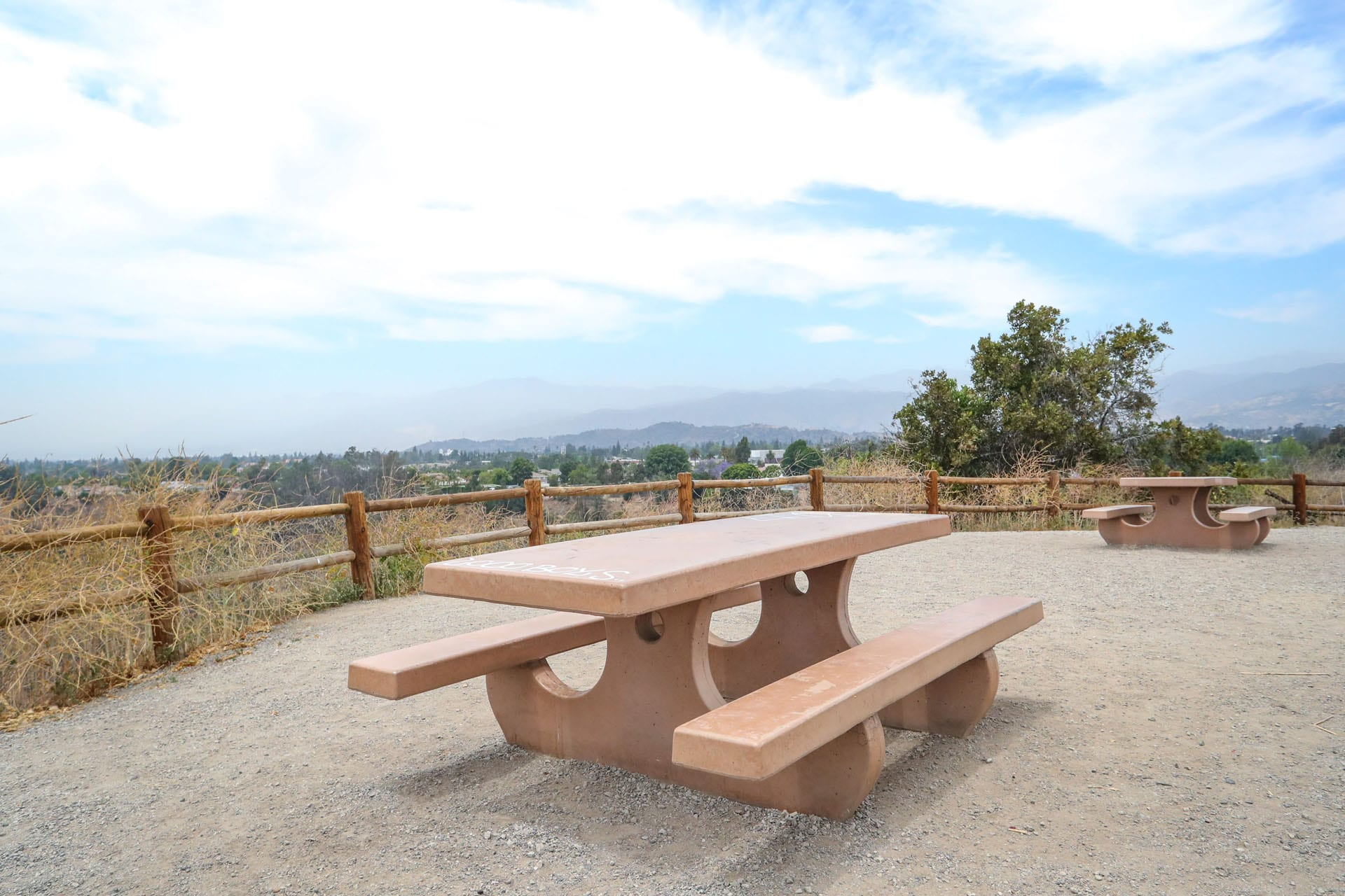Adobe picnic tables