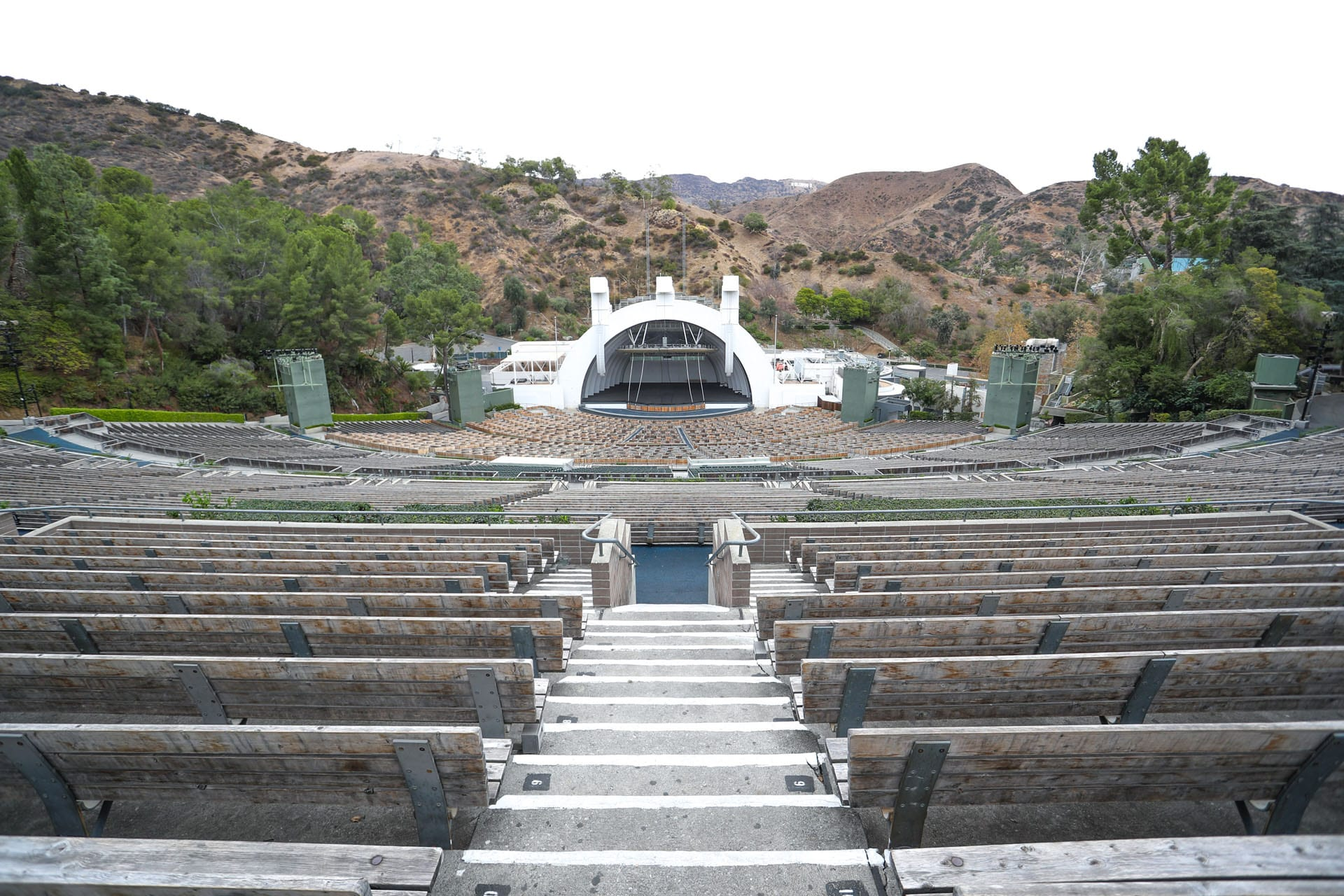 Far back view of amphitheater from bleachers