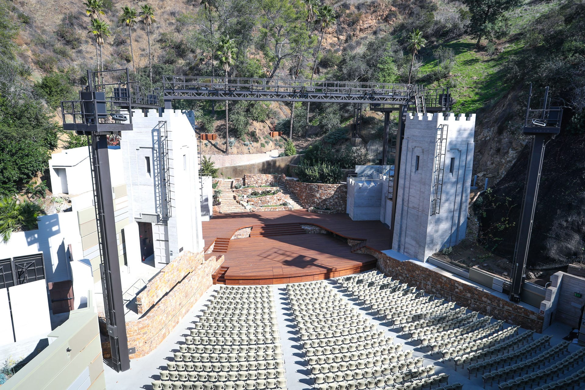 Amphitheater view from high seats