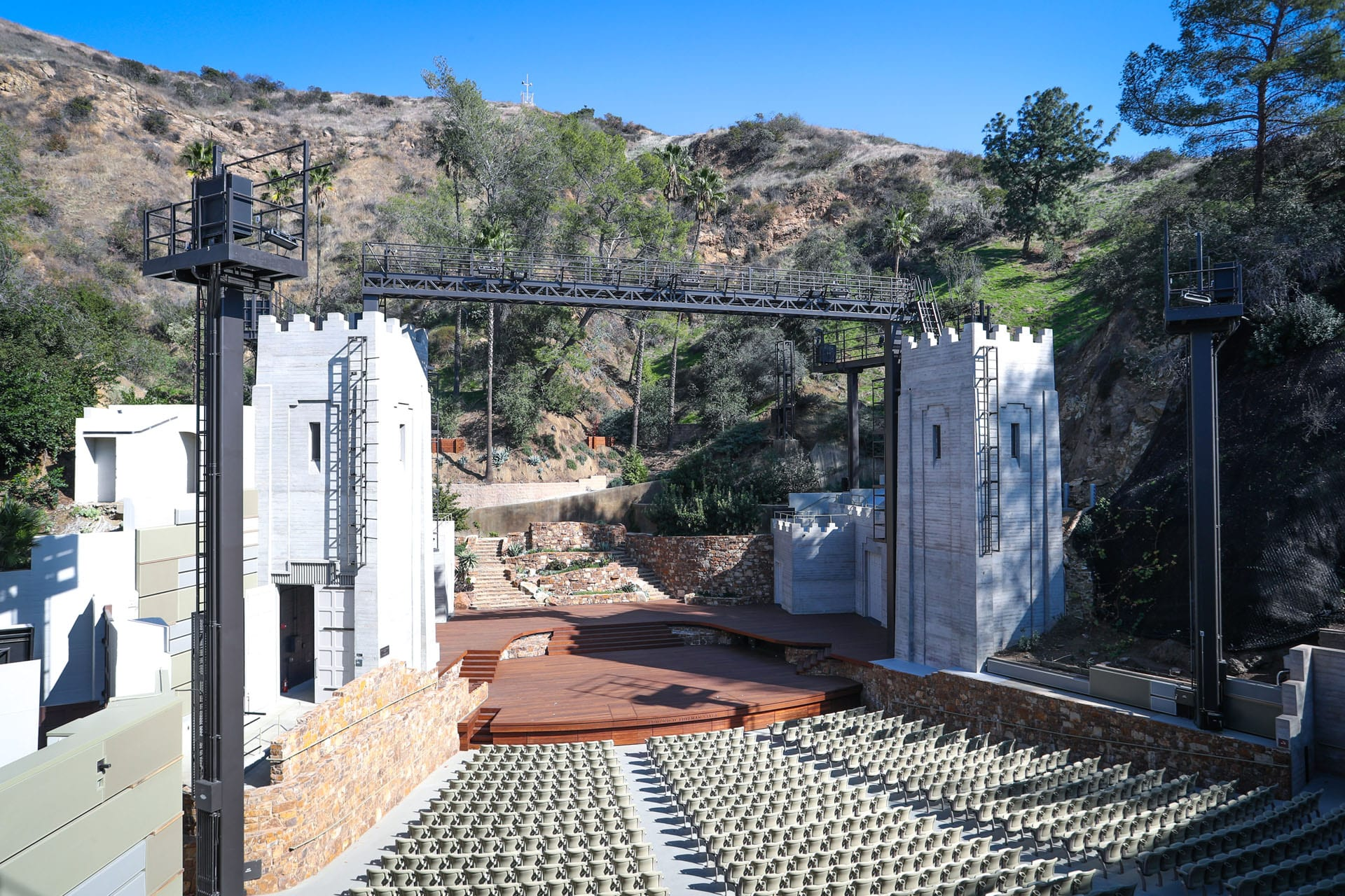 View of amphitheater from up high