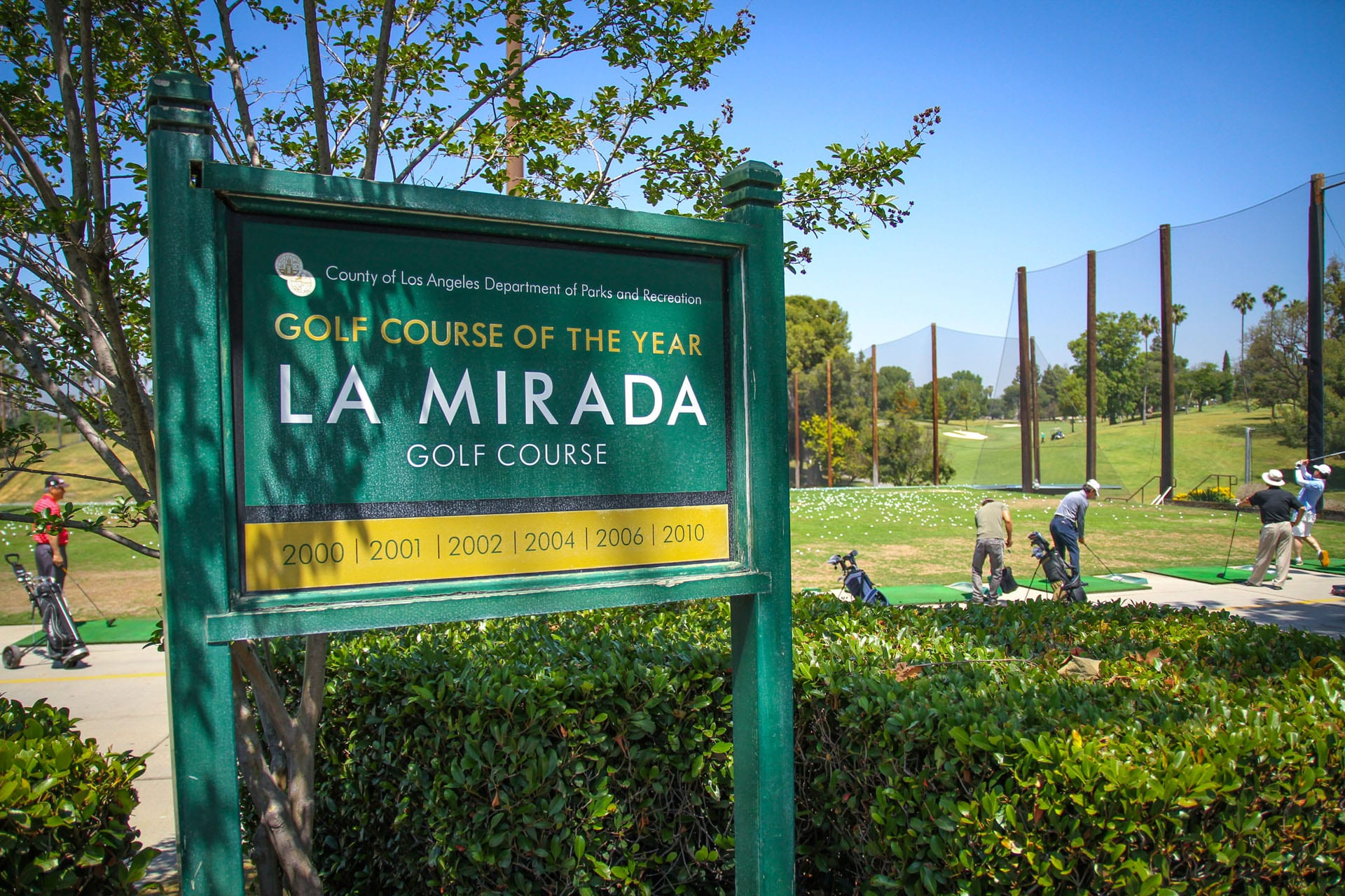 La Mirada Golf Course sign