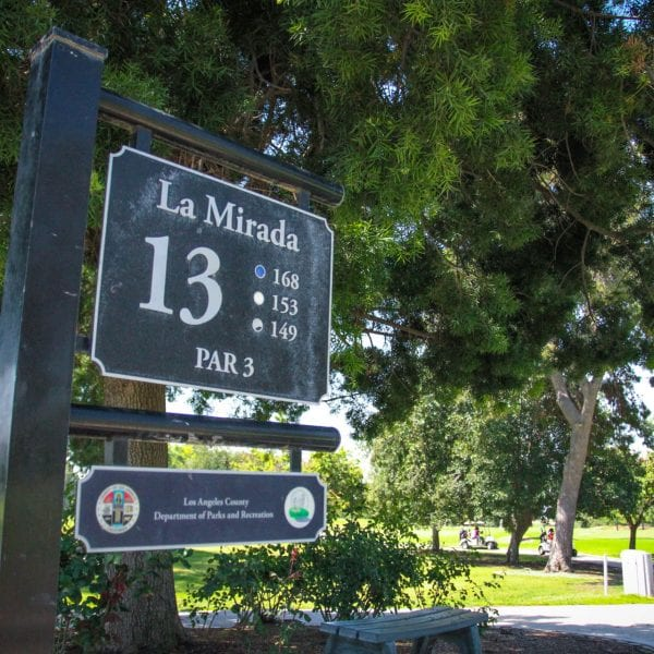 Hole 13 informational sign
