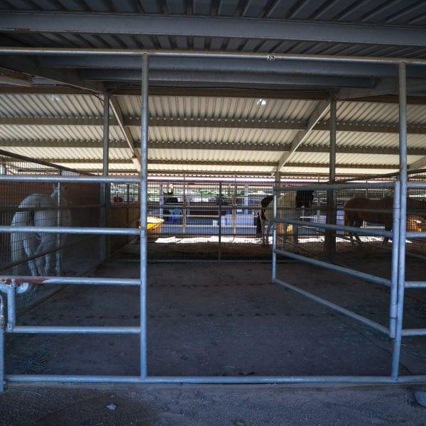 An open horse stall