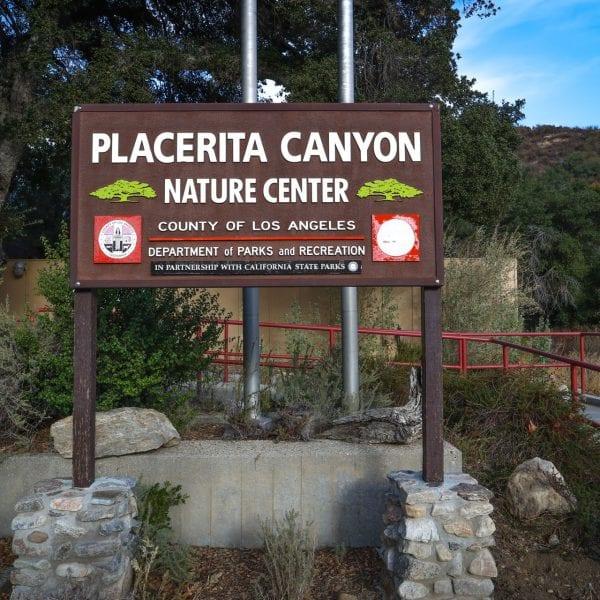 Placerita Canyon Nature Center sign