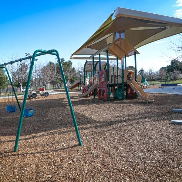 Playground and swing set