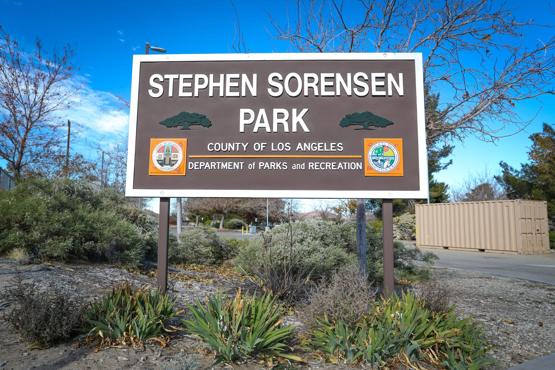 Stephen Sorensen Park sign