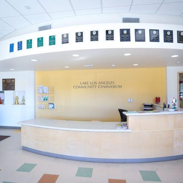 Lake Los Angeles Community Gymnasium front office inside