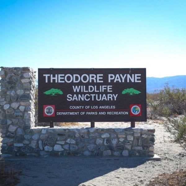 Theodore Payne Wildlife Sanctuary sign