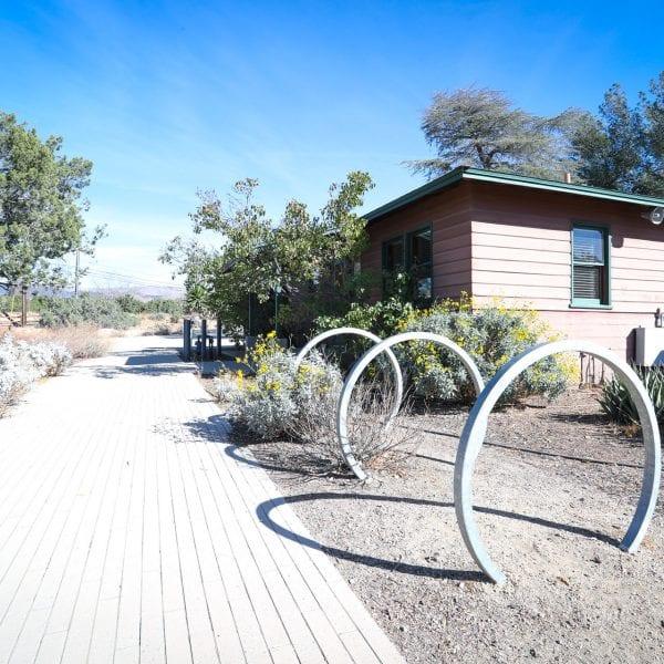 Bike racks outside