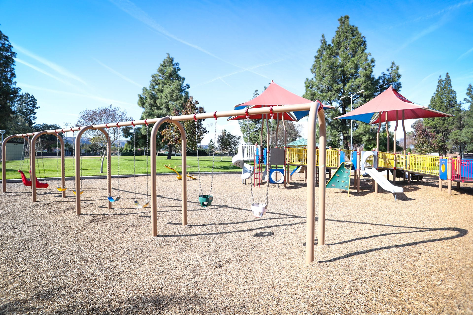 Swings and playground