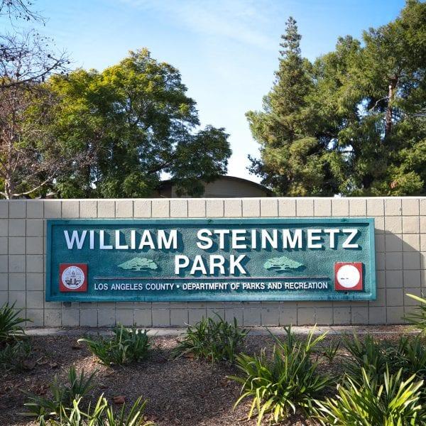 William Steinmetz Park sign