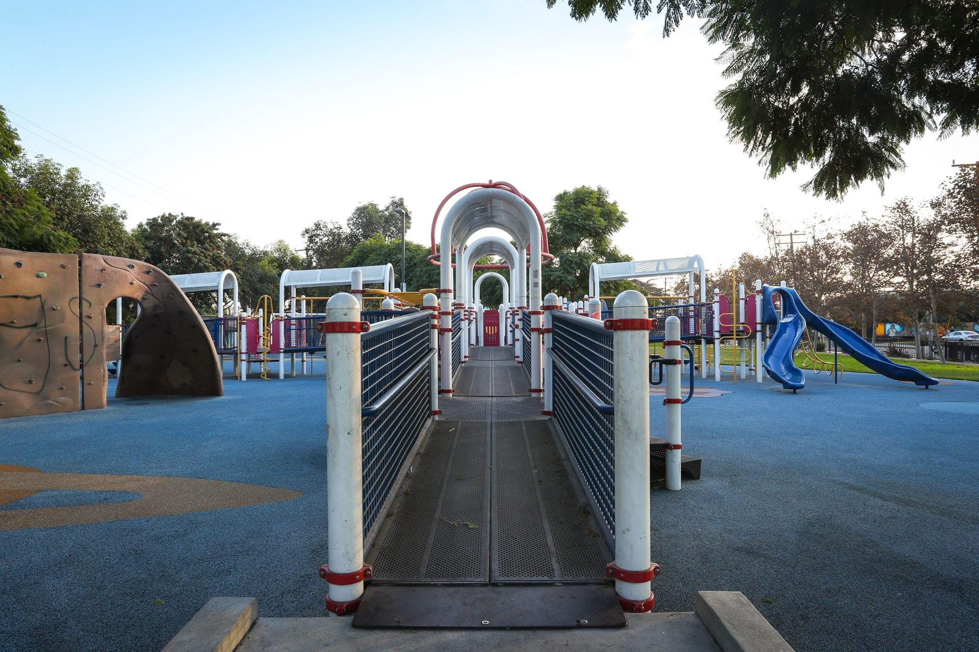 Bridge into a jungle gym structure