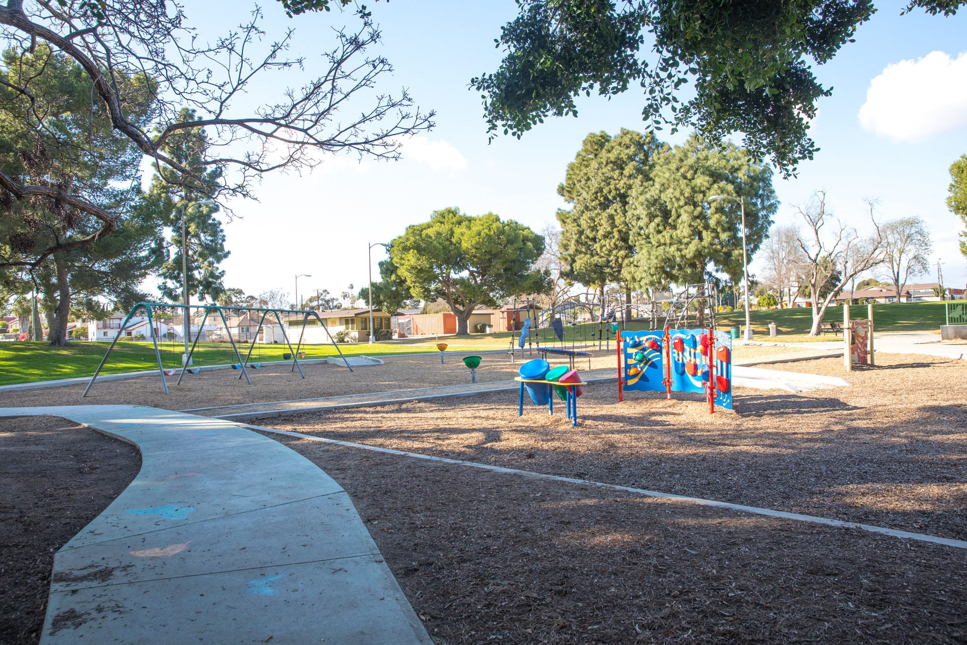 Athens Park play area and walking path
