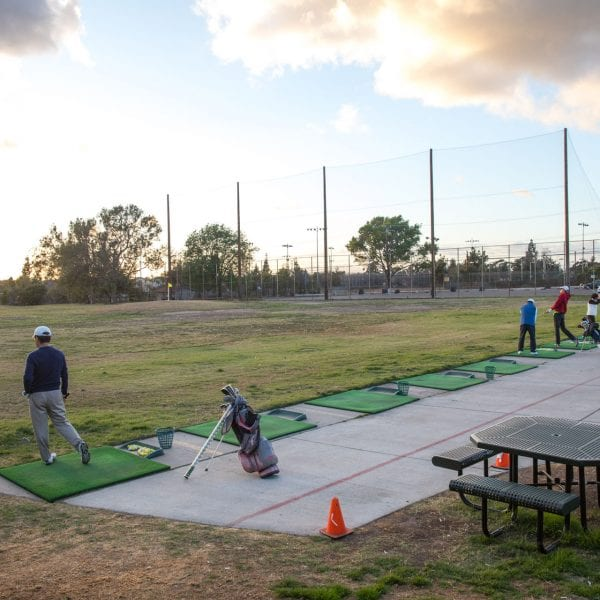 Chester Washington Golf Course driving range side view