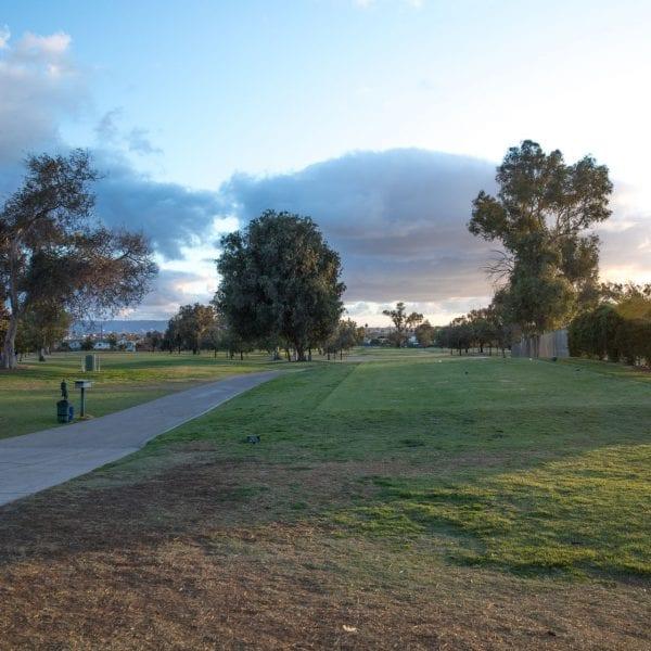 Chester Washington Golf Course golf carts path