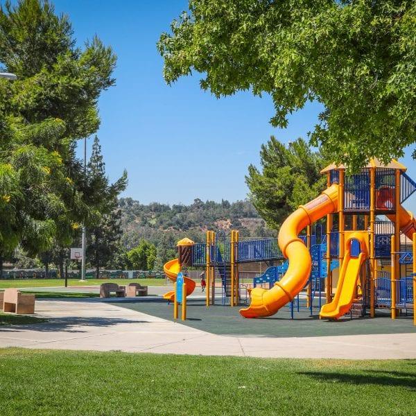 Playground and trees