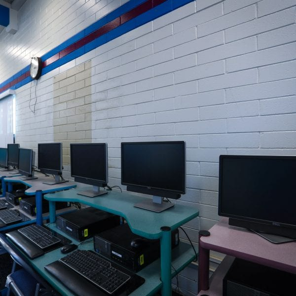 Computers in a computer lab