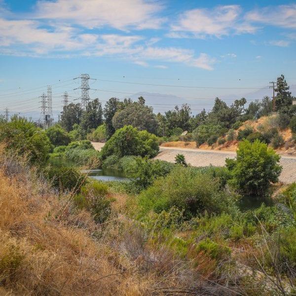 Manmade creek downhill
