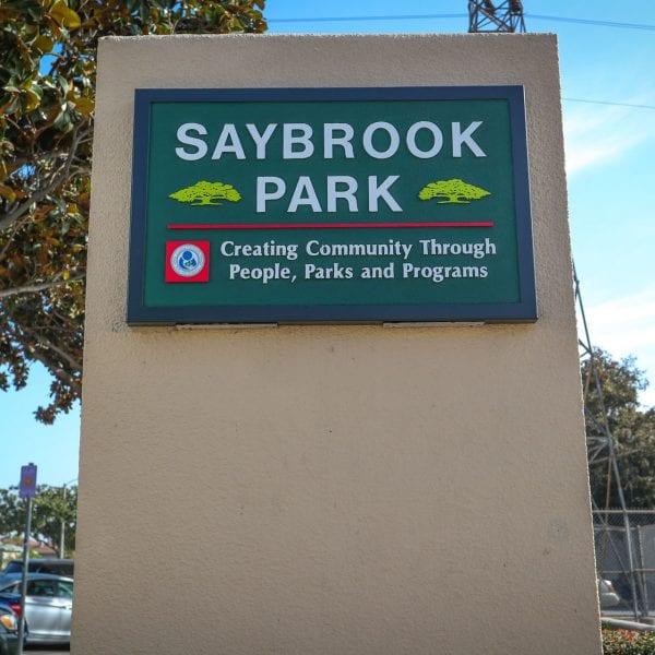 Saybrook Park sign