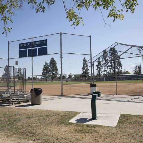 Area behind a baseball field